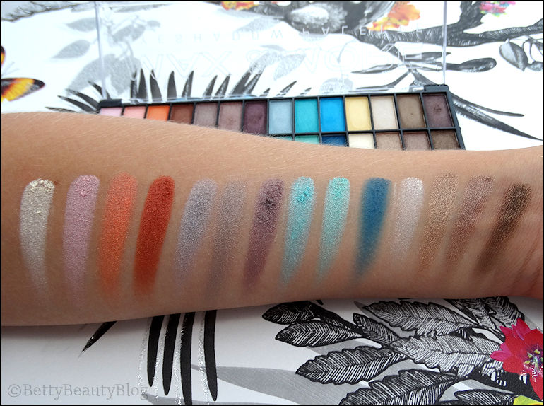 La palette Max & More          (swatchs et maquillages)