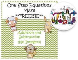 Labyrinthe d'équations à résoudre
