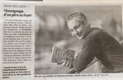 Apéritif littéraire à la médiathèque de Montbéliard, le 24 juin 2017