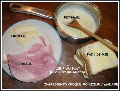 CROQUE MONSIEUR OU MADAME très gourmand