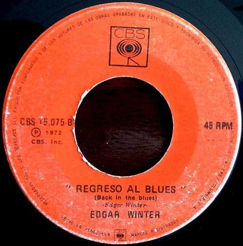 EDGAR WINTER - Back In The Blues