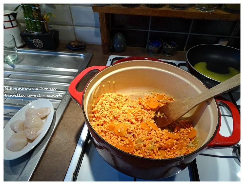 Lentilles corail et carotte