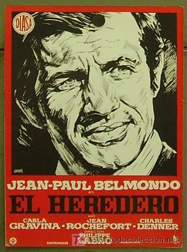 L HERITIER BELMONDO AFFICHE ESPAGNOLE