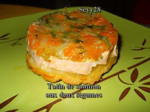 Tatin de saumon aux deux légumes
