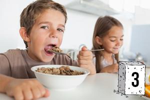 Des sucres dans les céréales du petit déjeuner