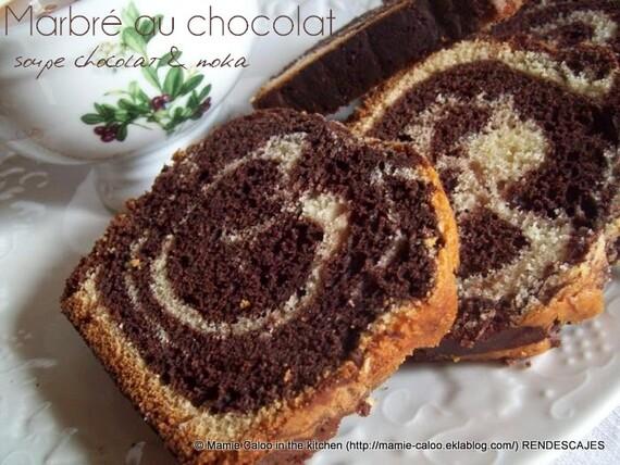 Marbré chocolat-vanille et soupe choco-moka