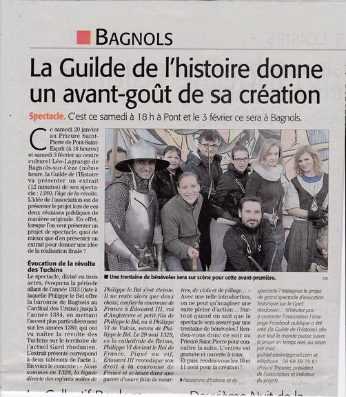 Article du Midi Libre 20/01/2018