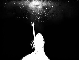 Image de stars, anime, and black and white