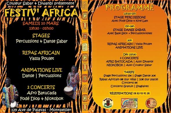 ★ Festiv' Africa [Sam 10 Mars]