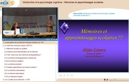 """Mémoires et apprentissages scolaires : Alain Lieury """"en live"""""""