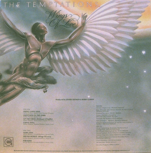 """The Temptations : Album """" Wings Of Love """" Gordy Records G6-971S1 [ US ]"""