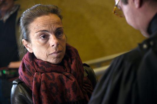 L'ancienne présidente de l'INA Agnès Saal  à son arrivée au tribunal de Créteil lundi 11 avril.