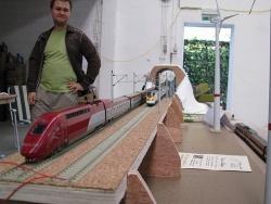 TGV - Module en cours de construction par Jonathan Titeux du club AFME (Marcq, Belgique)
