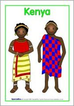 Boîte des continents : les costumes traditionels