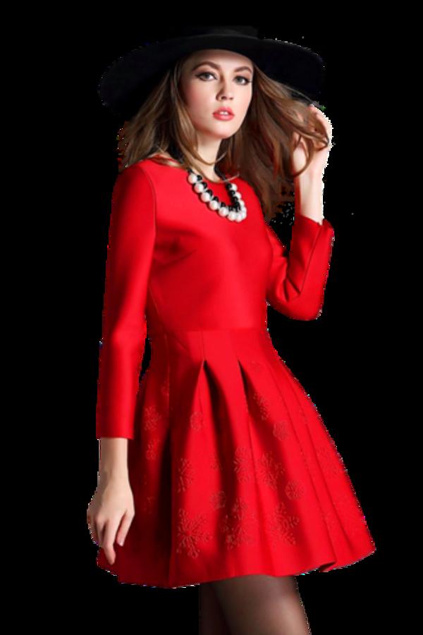 Femme vétue de rouge / 8