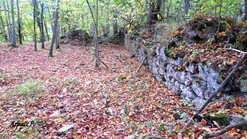 Ruines de l'ancien village de Gebetz ,en plateau de Sault