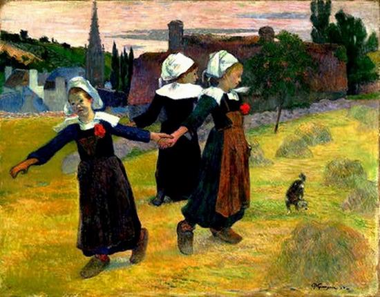 Paul Gauguin, Trois jeunes Bretonnes dansant la gavotte