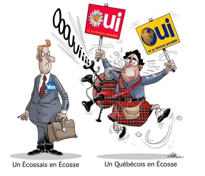Un Ecossais en Ecosse vs. un Québécois en Ecosse