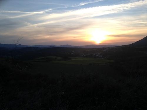 Lever de soleil à Estella
