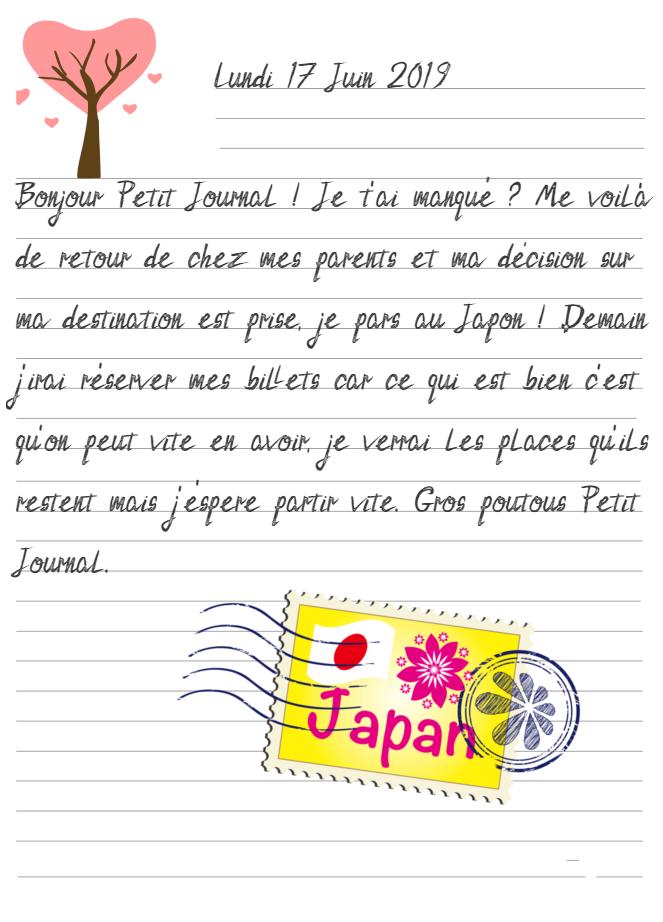 Journal de Mireille, 17 Juin 2019