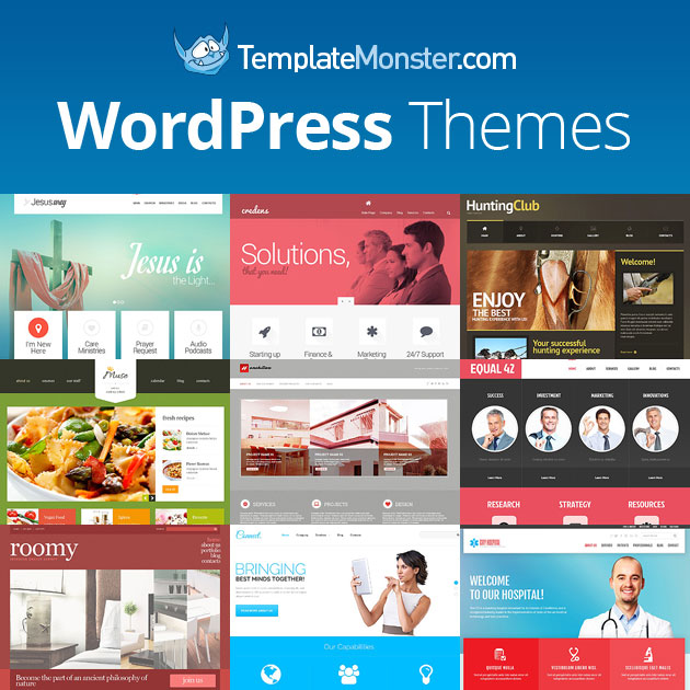TemplateMonster offers web templates designed and developed by field experts