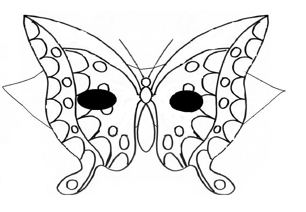 Masques en folies papillon grande section blog d 39 elendra - Dessin papillon a decouper ...