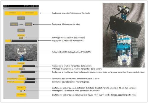 Version finale de l'application sous App Inventor du robot mBot explorateur