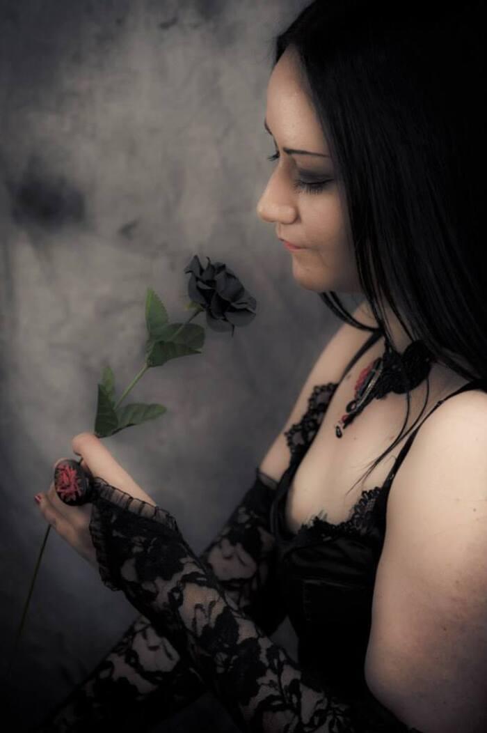 Velvet-Rose, modèle goth