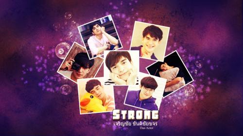 """Fond d'écran avec l'acteur thai """"Strong"""""""