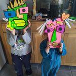 """Arthur et Morgane ont fait des masques """"Picasso"""""""