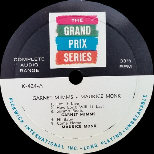 "Garnet Mimms : CD "" The Early Years Featuring The Gainors : The Complete Recordings 1958-1961 "" Jasmine Records JASCD 945 [ CZ ]"
