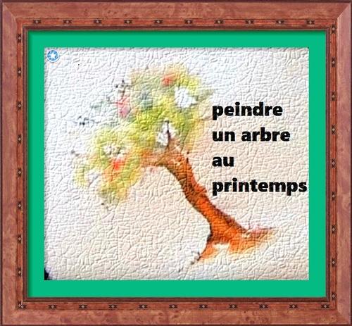 Dessin et peinture - vidéo 2706 : Comment peindre l'arbre des 4 saisons (le printemps)? - aquarelle