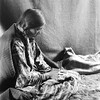 Cheyenne woman doing quillwork_ ca_ 1910_ Montana_ Photo by Elizabeth Curtis Grinnell