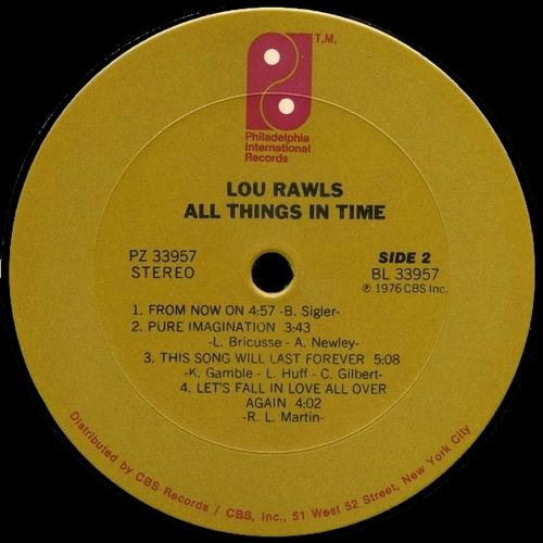 "1976 : Lou Rawls : Album "" All Things In Time "" Philadelphia International Records PZ 33957 [ US ]"