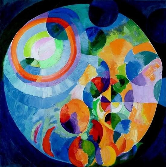 Robert Delaunay, Formes circulaires, soleil, lune, 1913
