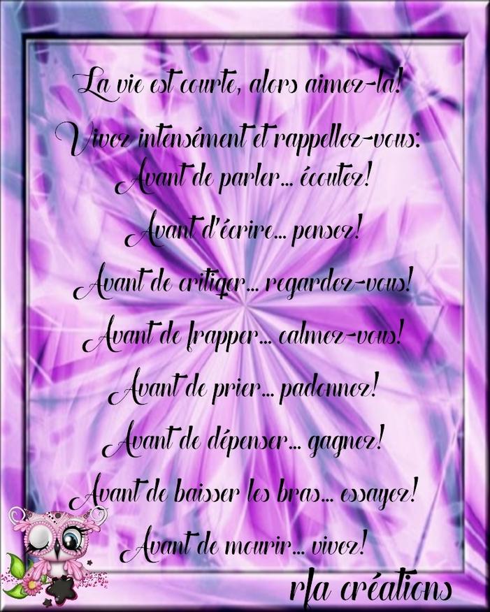 AVANT DE MOURIR... VIVEZ!!!