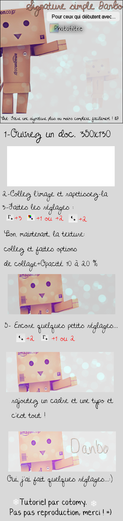 Tutoriel-Danbo [photofiltre simple]