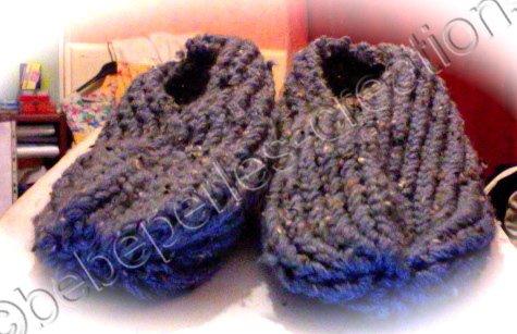 premier chausson au tricotin