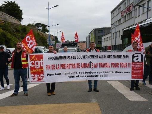 Retour sur la manifestion des travailleurs de la mer contre l'amiante le 6 septembre dernier