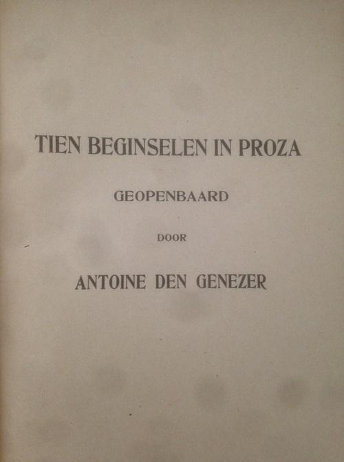 Les dix principes en néerlandais