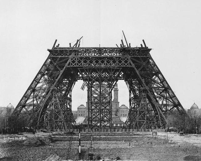 histoire tour eiffel  contruction 1888