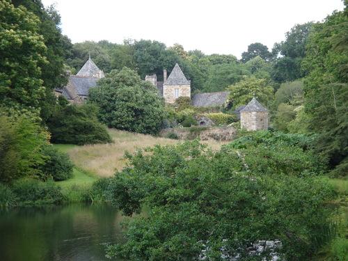 Jardin de Kerdalo en Bretagne.