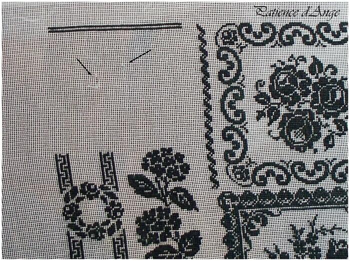 Sweet Flowers d'Angie Design sur gaze de soie brodé par Patience d'Ange Angélique LEVY2ème partie
