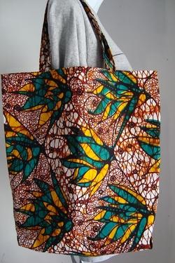 Sac en tissu africain.