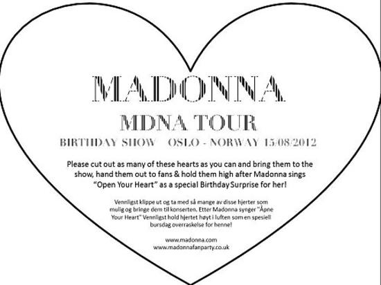 MDNA Tour - 2012 08 15 - Oslo, White Heart