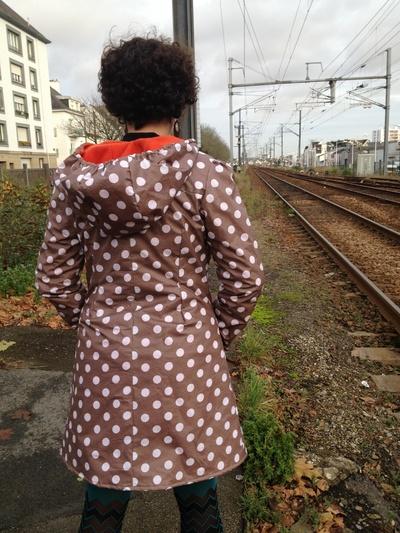 """Manteau de pluie """"ptits pois"""""""