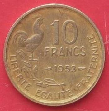 10 Francs Guiraud 1953  recers