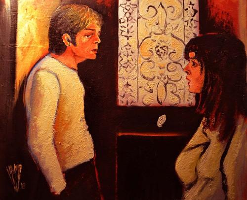 """ La porte ""  Huile sur toile 65 X 54"