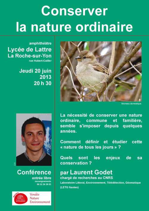 Conserver la nature ordinaire, par Laurent Godet.