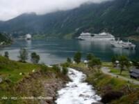 Geiranger fjorden-vue du camping